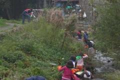 Limpieza del río Arlós con la Casa de Acogida, Avilés, 13.10.08