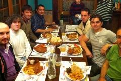 Celebrando el Proyecto Mazarico con cachopo, 05.12.13