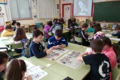 taller egagrópilas en colegio Laviada, Xixón, 26.02.20